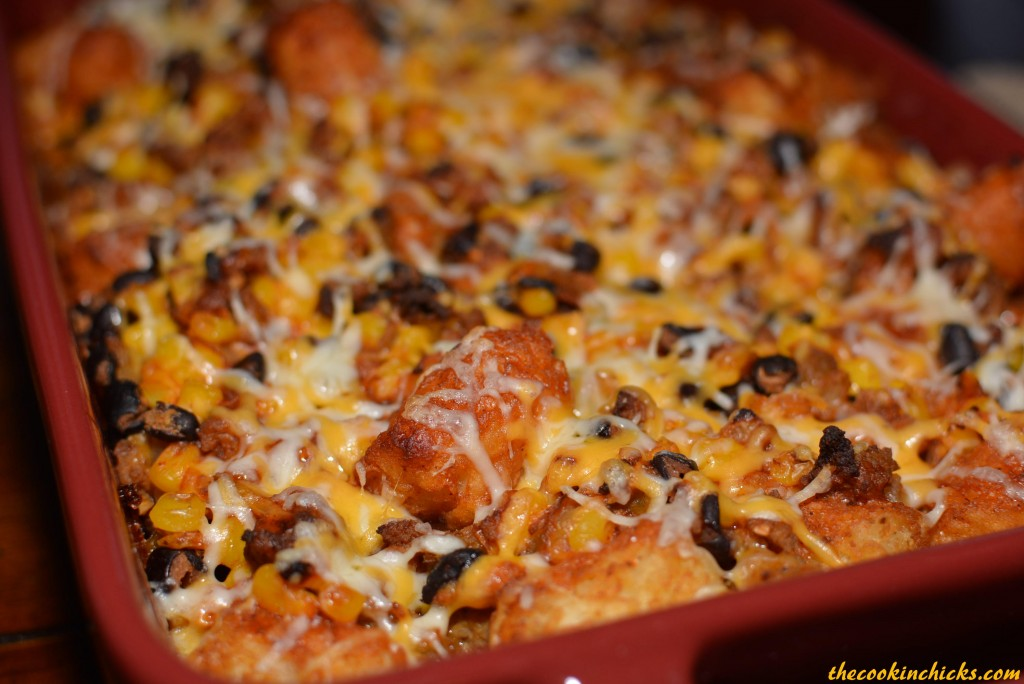 Taco Tater Tot Bake | The Cookin Chicks