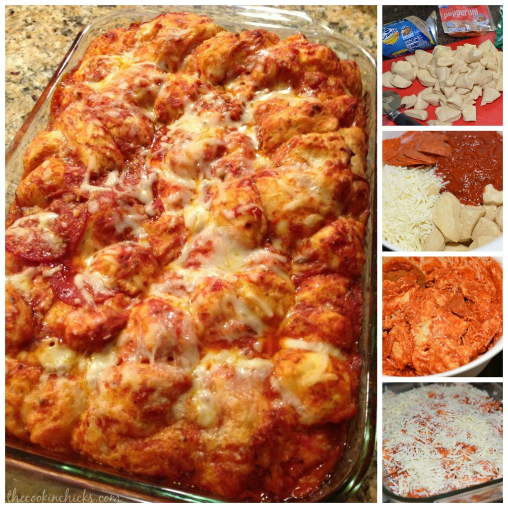 Bubble Up Pizza Casserole | The Cookin Chicks