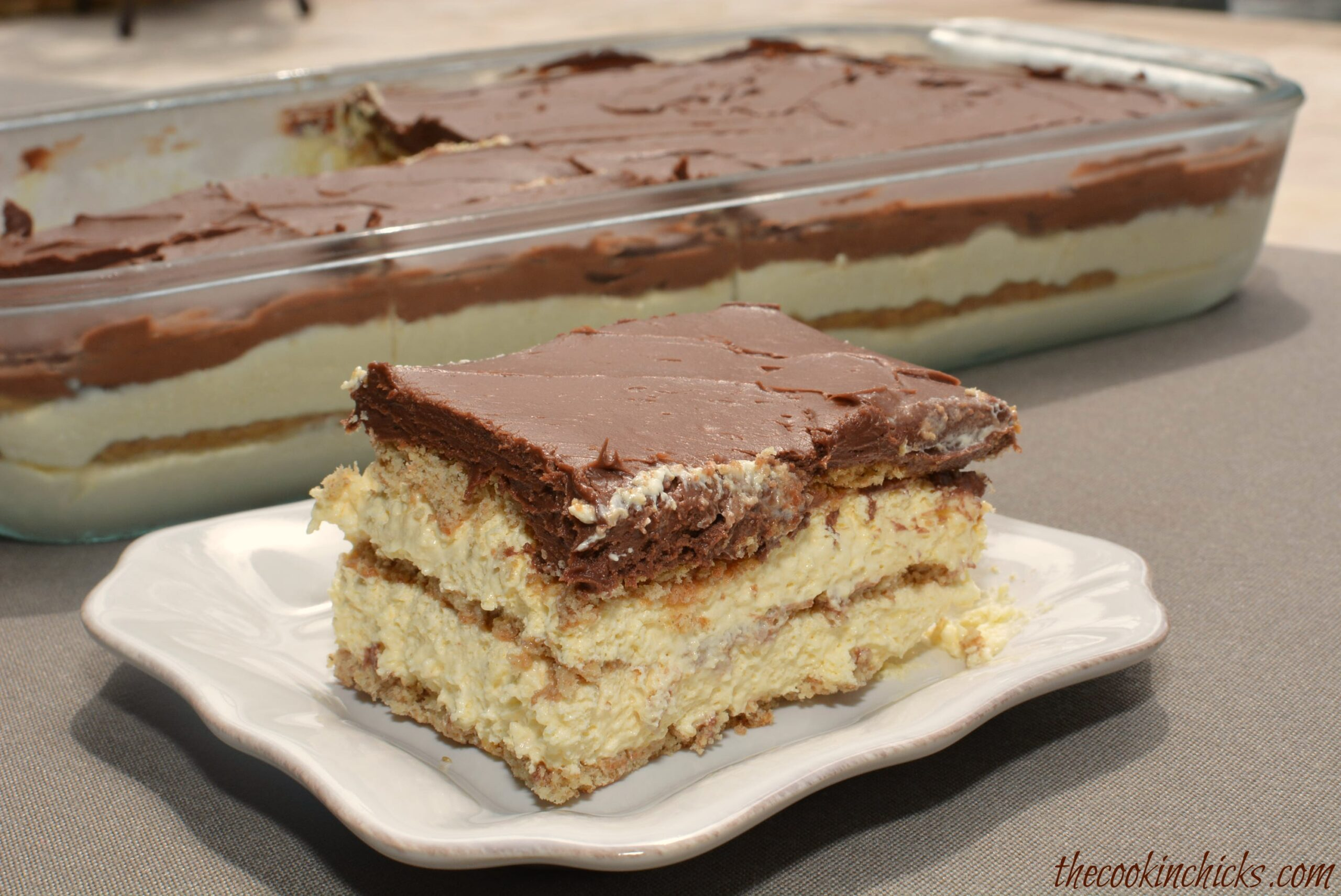 Chocolate Eclair Cake | The Cookin Chicks