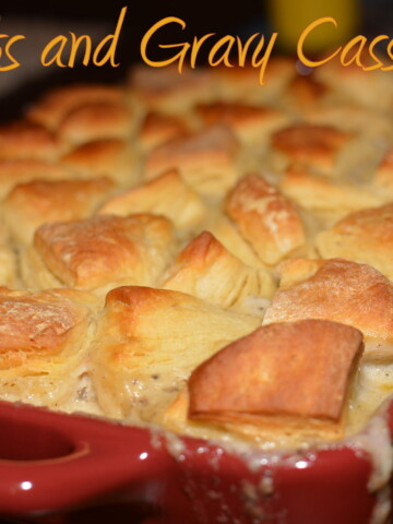 comfort food at its finest with this sausage and biscuit bake