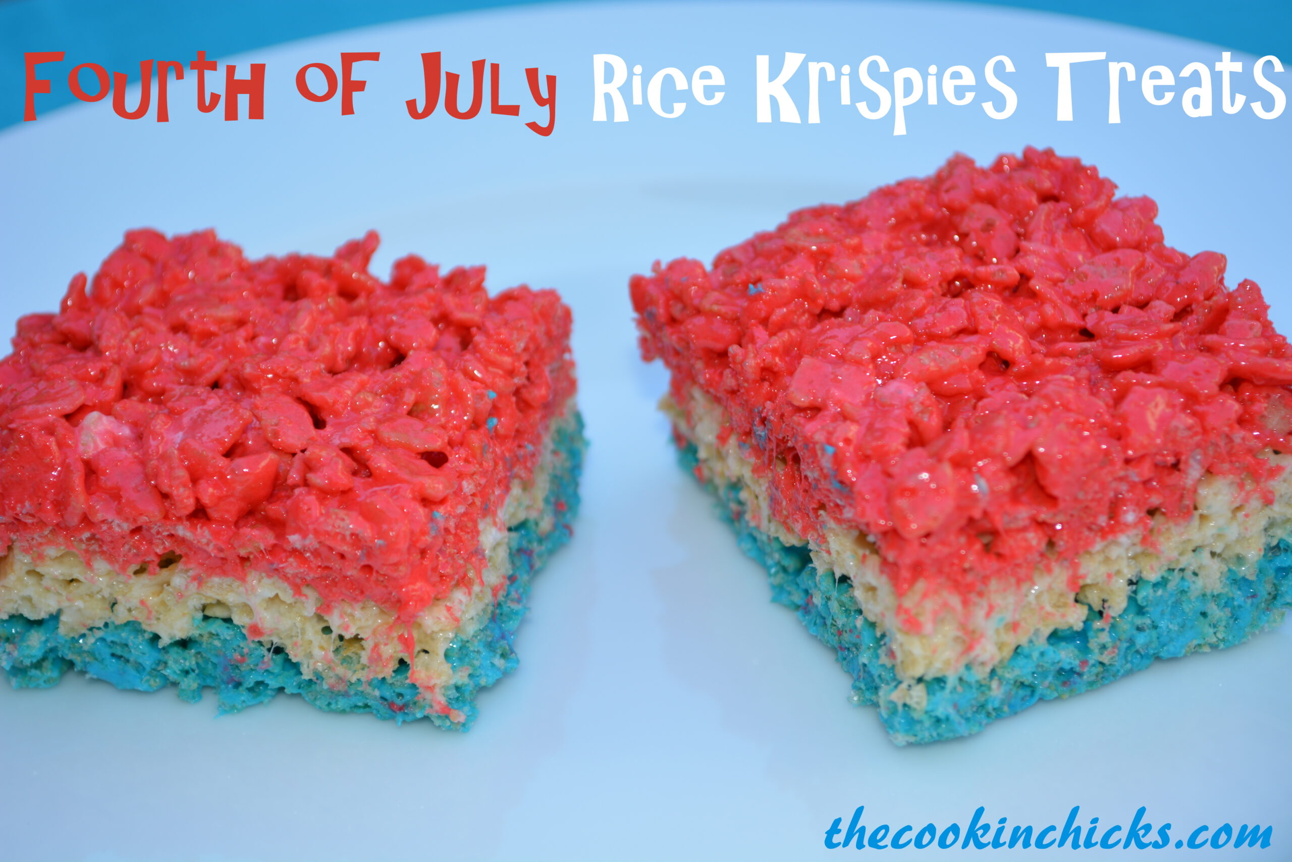 Fourth of July Rice Krispies Treats - The Cookin Chicks