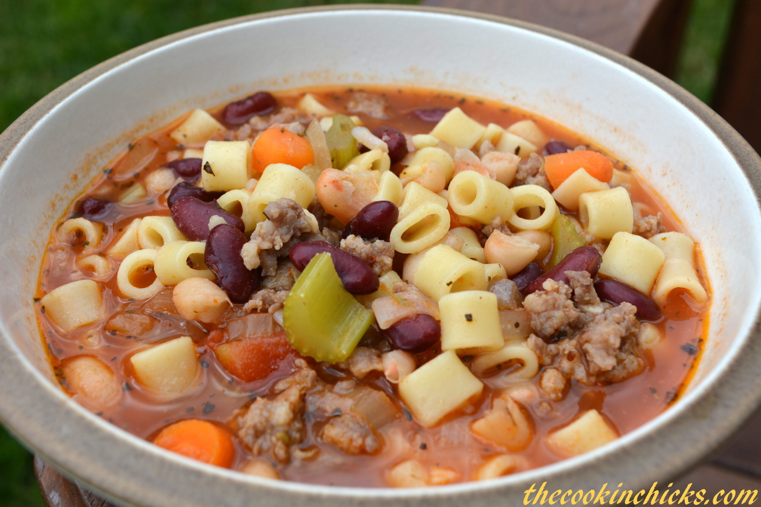 Pasta e Fagioli Soup - The Cookin Chicks