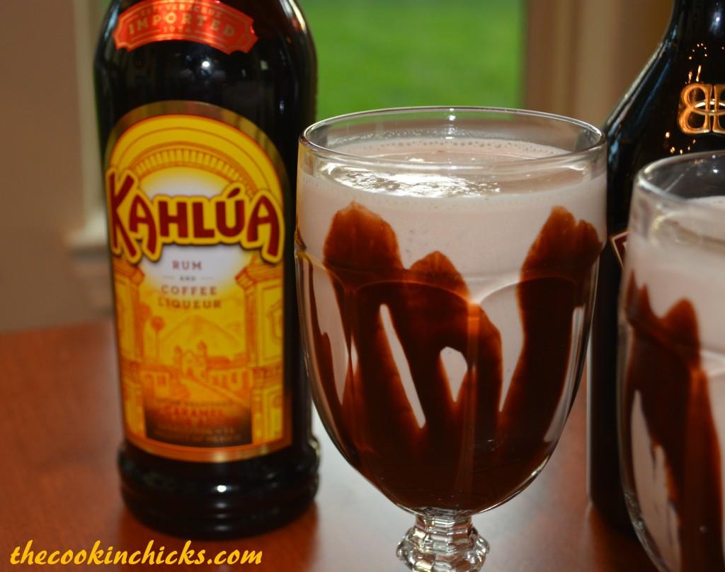 a frozen, boozy milkshake with lots of chocolate flavor