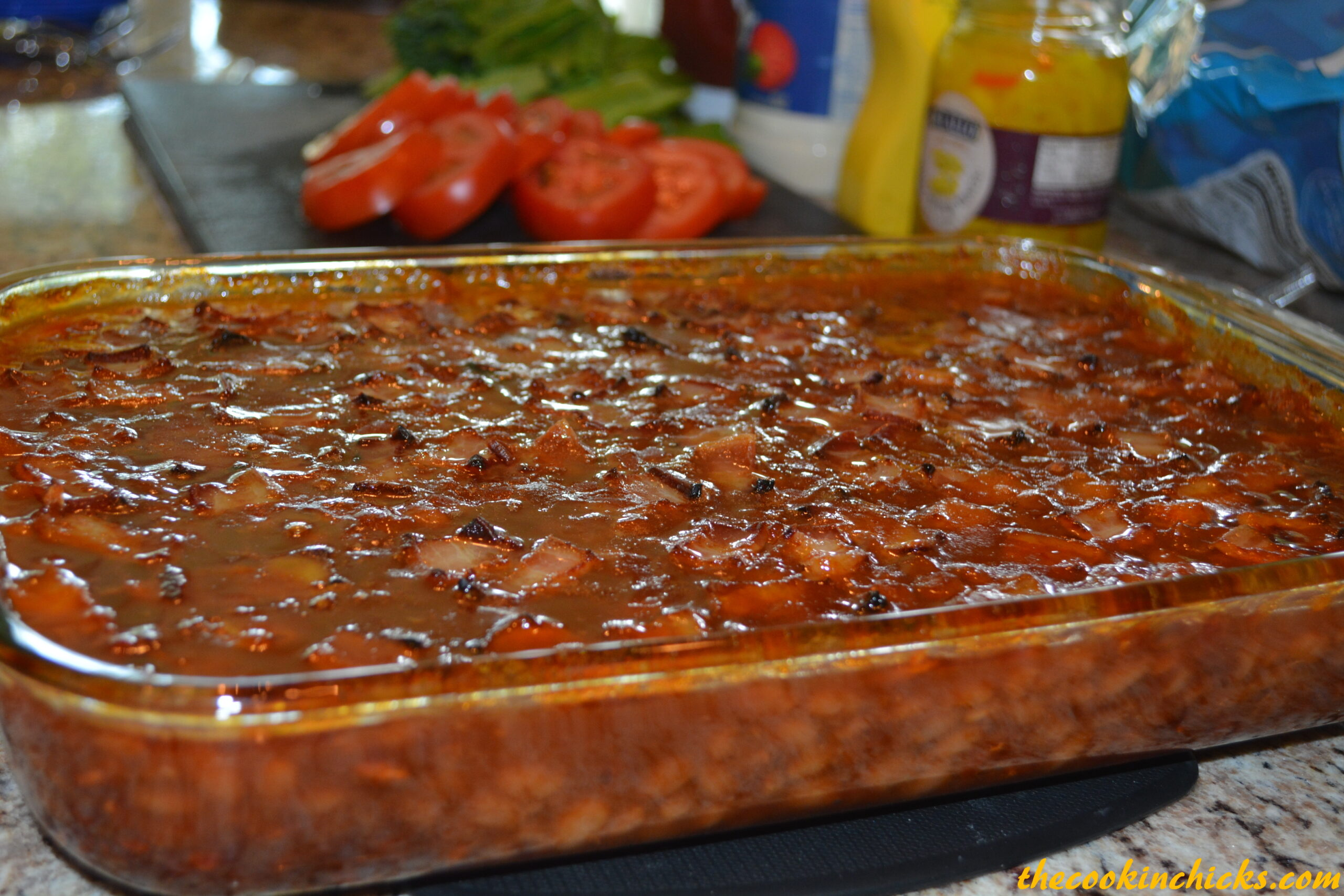 Easy Bbq Baked Beans The Cookin Chicks