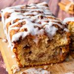 fluffy, flavorful apple bread with cinnamon swirls throughout