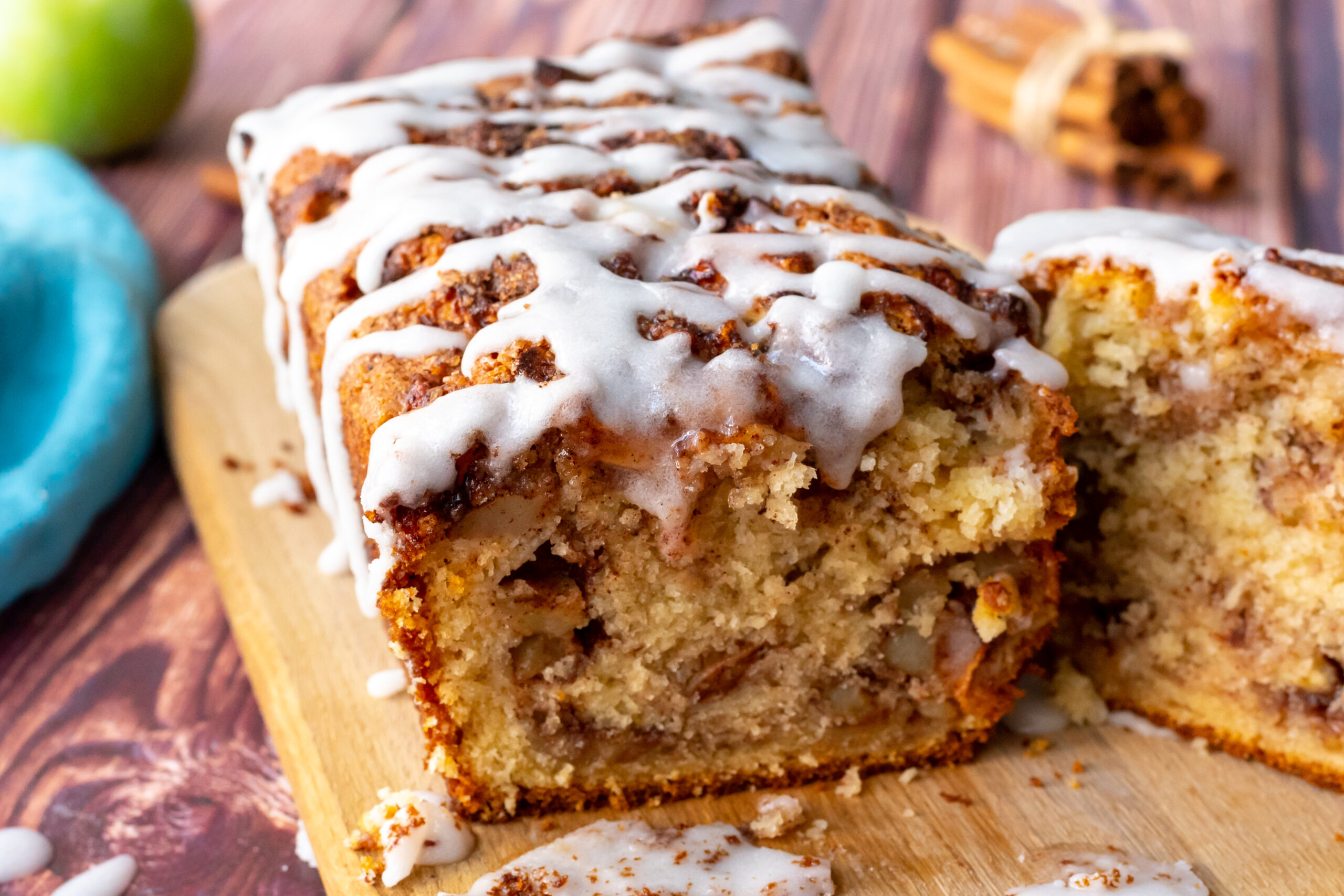 Apple Fritter Bread - The Cookin Chicks