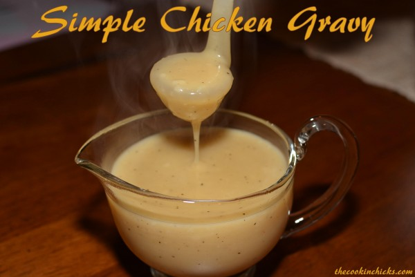 using simple ingredients, this flavorful gravy comes together in no time