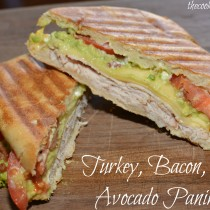 turkey, bacon, & avocado panini