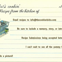 whats cookin 3 x 5 recipe card