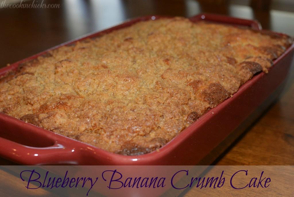 Blueberry Banana Crumb Cake