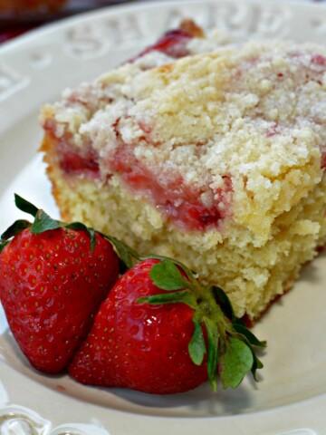 Strawberry Coffee Cake