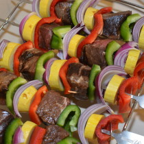 Shish Kabob Skewer Rack