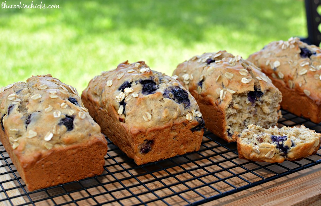 flavorful quick bread with hints of lemon throughout and blueberries