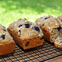 Blueberry Lemon Oatmeal Bread