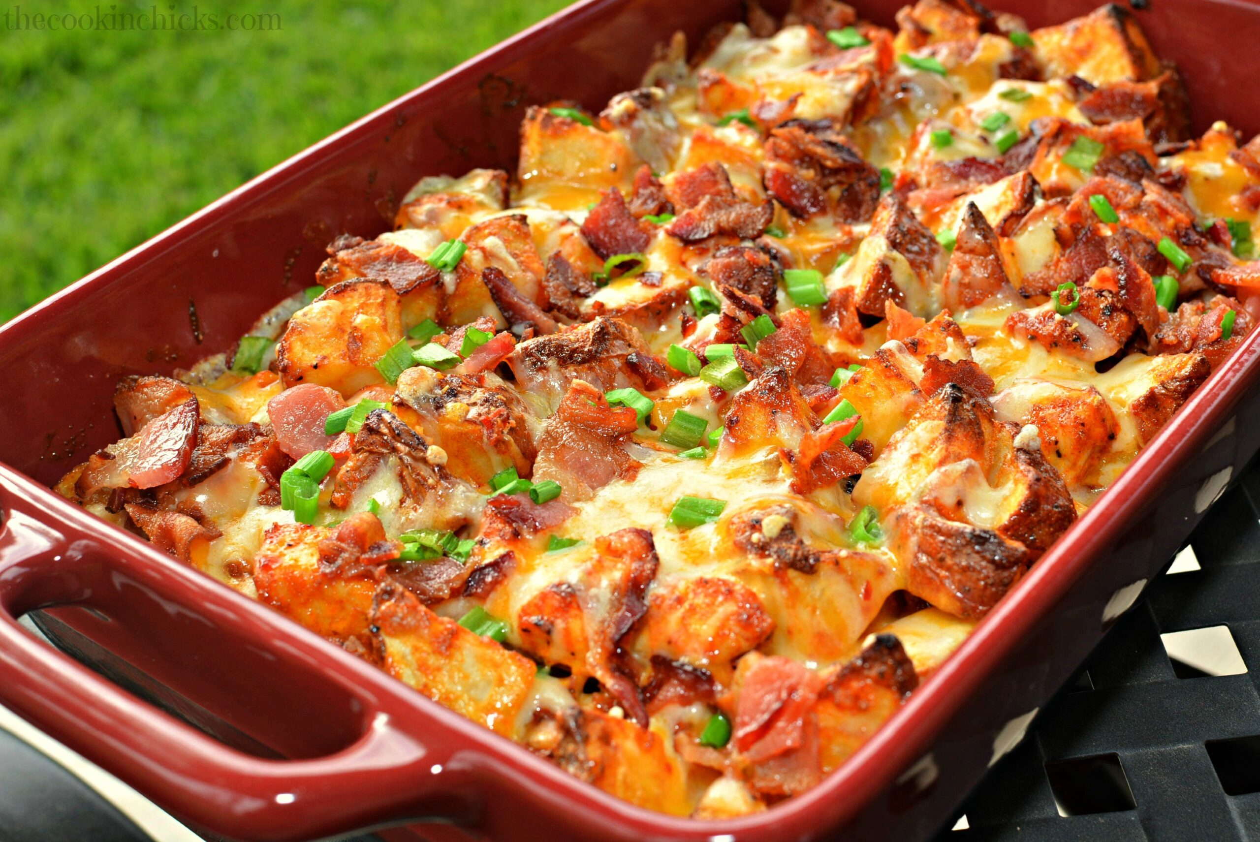 Loaded Chicken & Potato Casserole | The Cookin Chicks