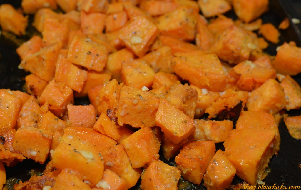 Baked Parmesan Sweet Potatoes