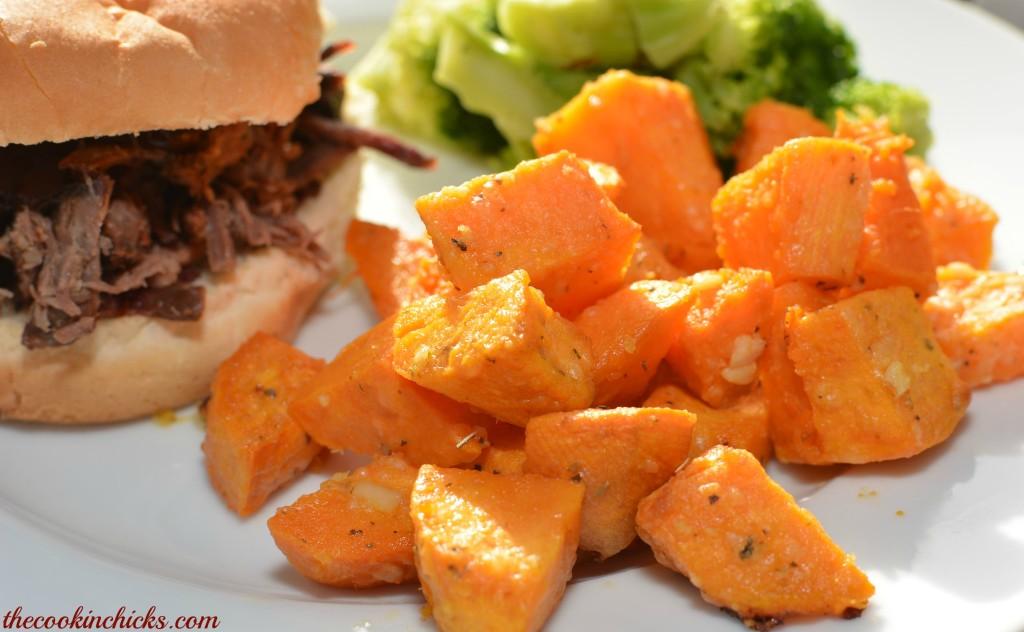 Baked Parmesan Sweet Potatoes