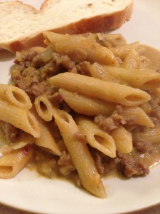 Pumpkin and Sausage Penne