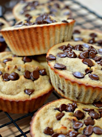 flavorful mini muffins with banana and chocolate chips