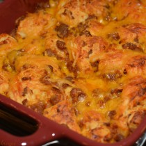Sloppy Joe Bubble Up Casserole