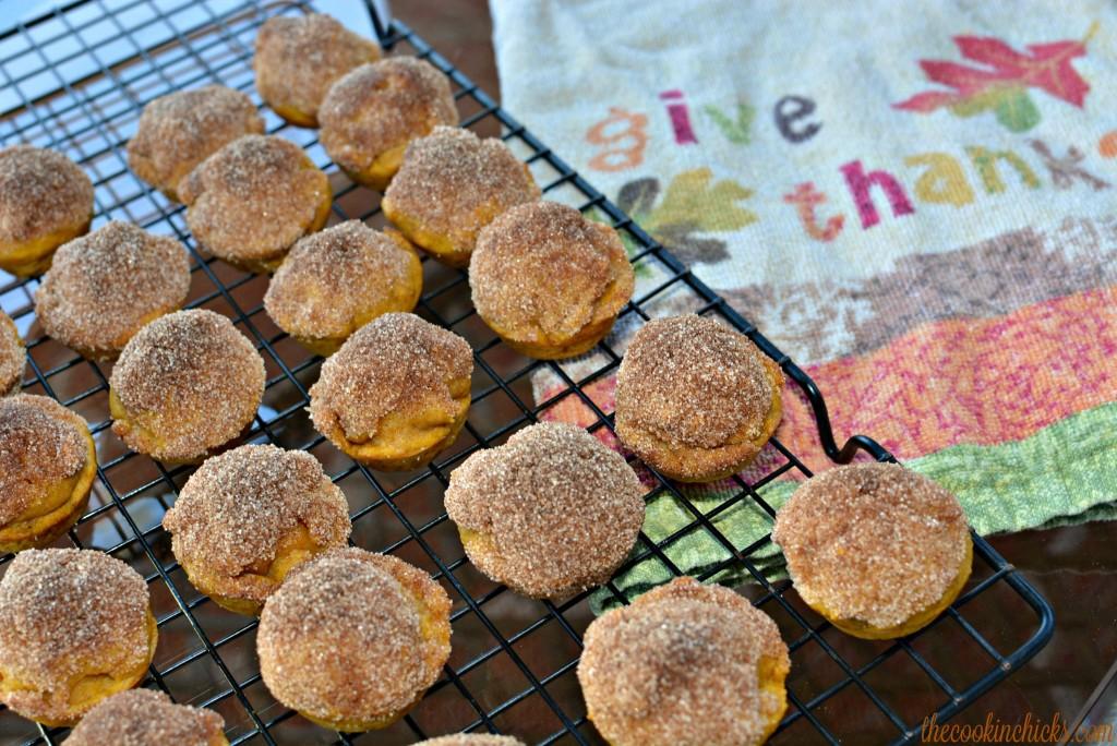 flavorful mini pumpkin muffins with a cinnamon sugar coating