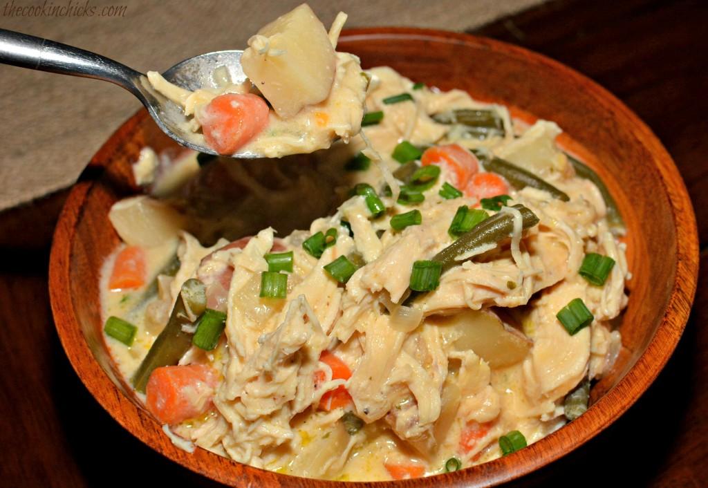 Slow Cooker Creamy Chicken Stew