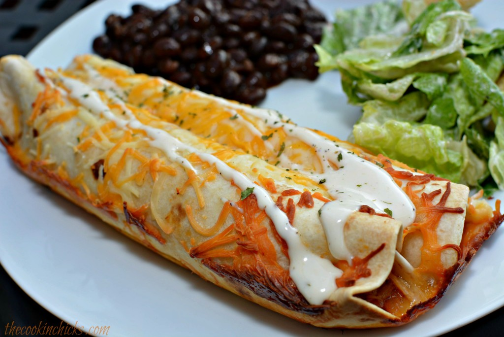 Slow Cooker Ranch Chicken Enchiladas