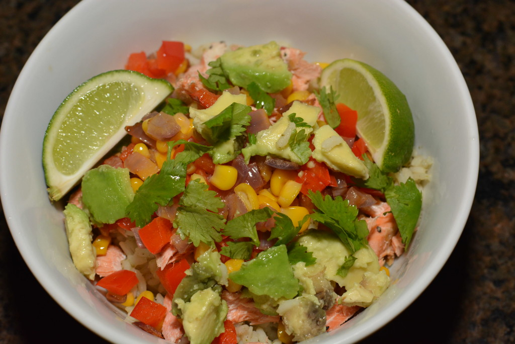 Salmon Taco Rice Bowls