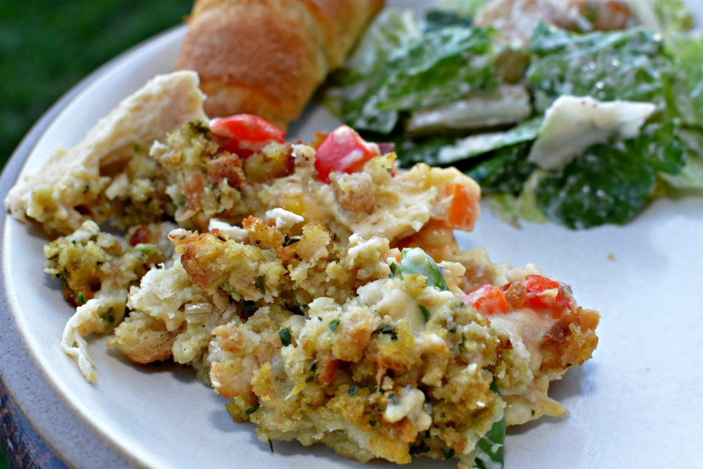 Stuffing Crusted Chicken Pot Pie