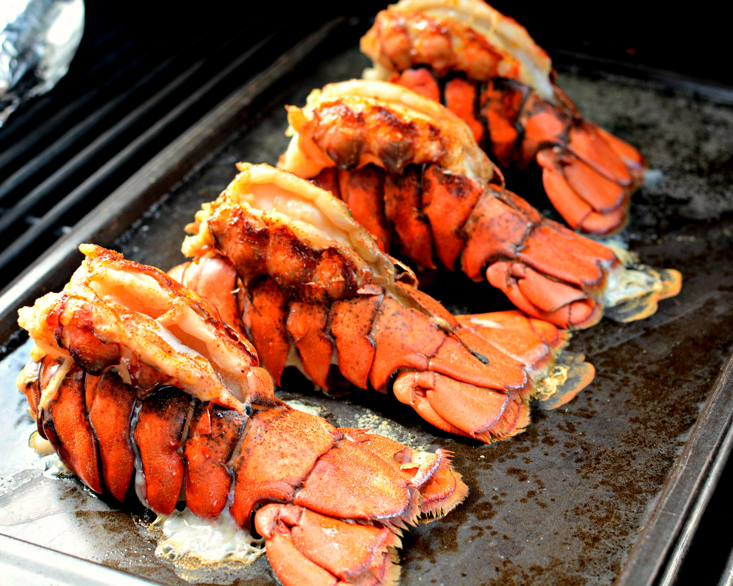 Grilled Lobster Tails | The Cookin Chicks