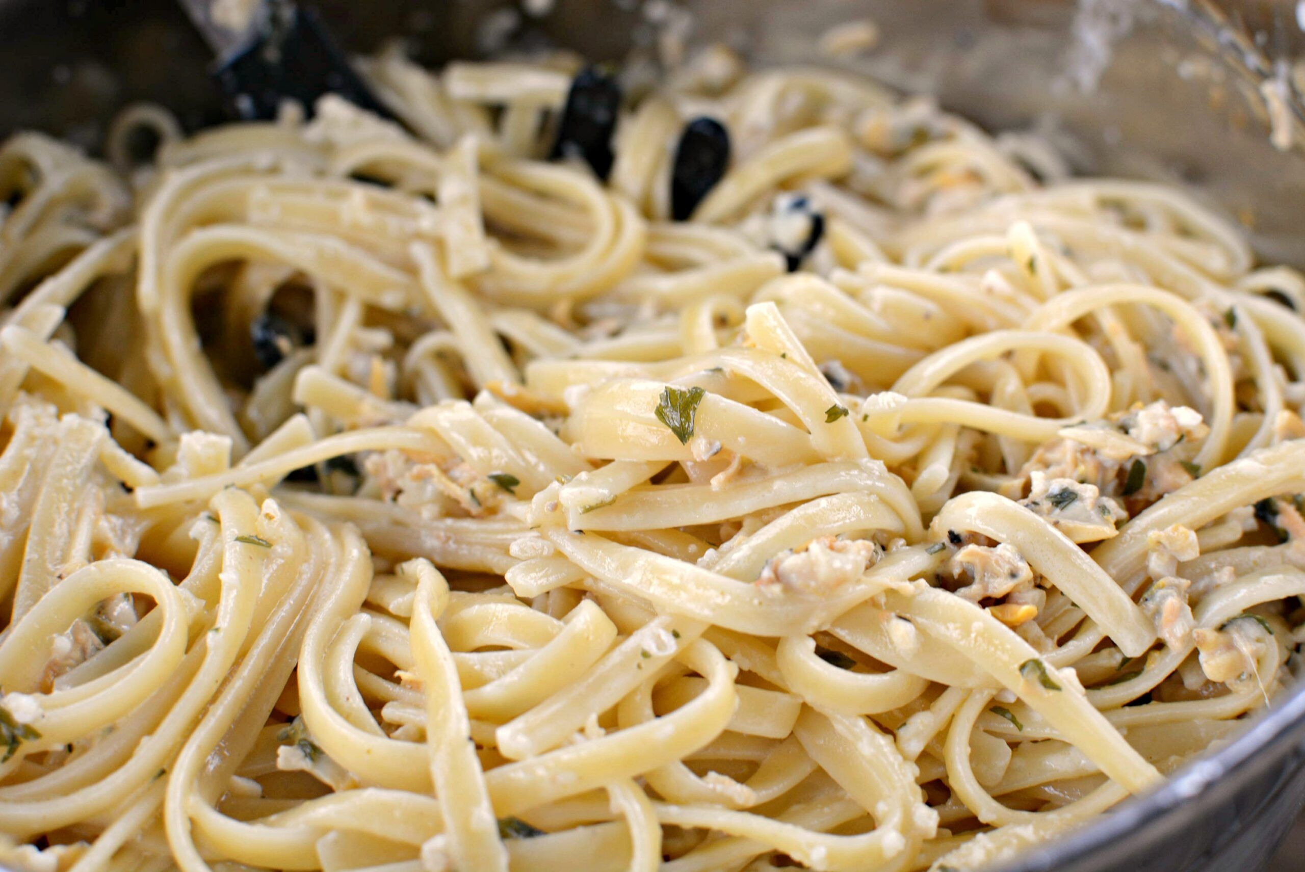 linguine w clam sauce the cookin chicks