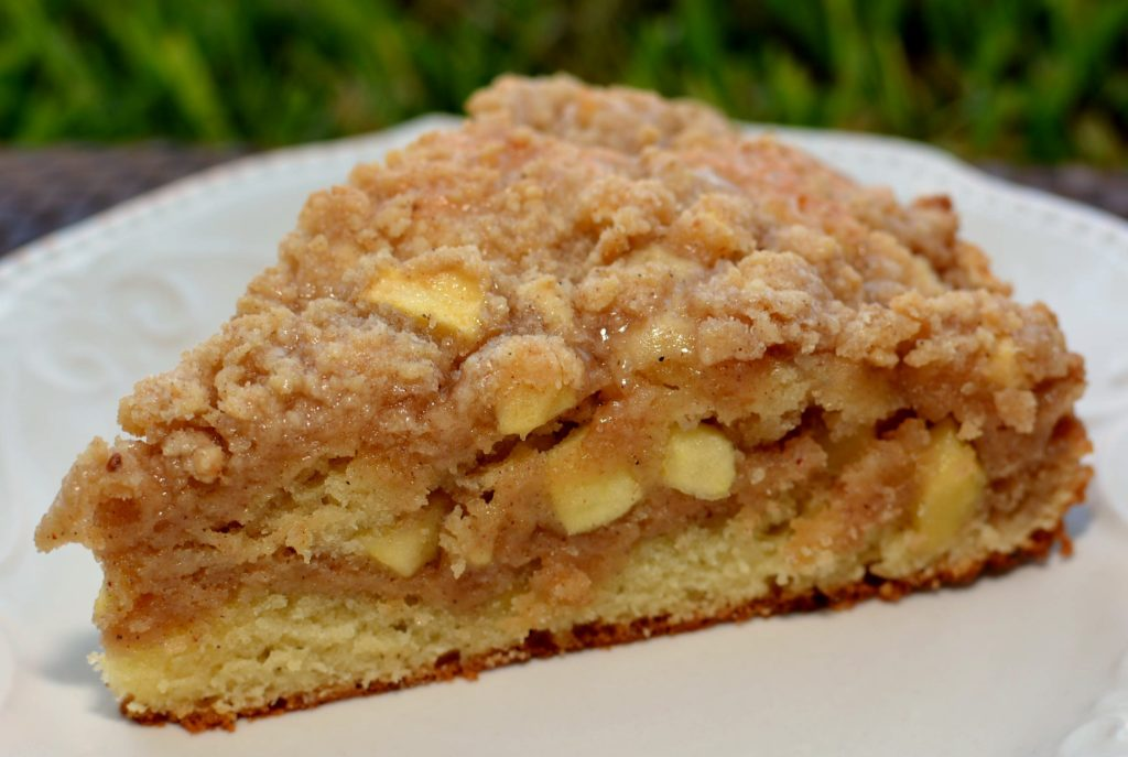moist, flavorful apple cinnamon cake with a tasty topping in every bite