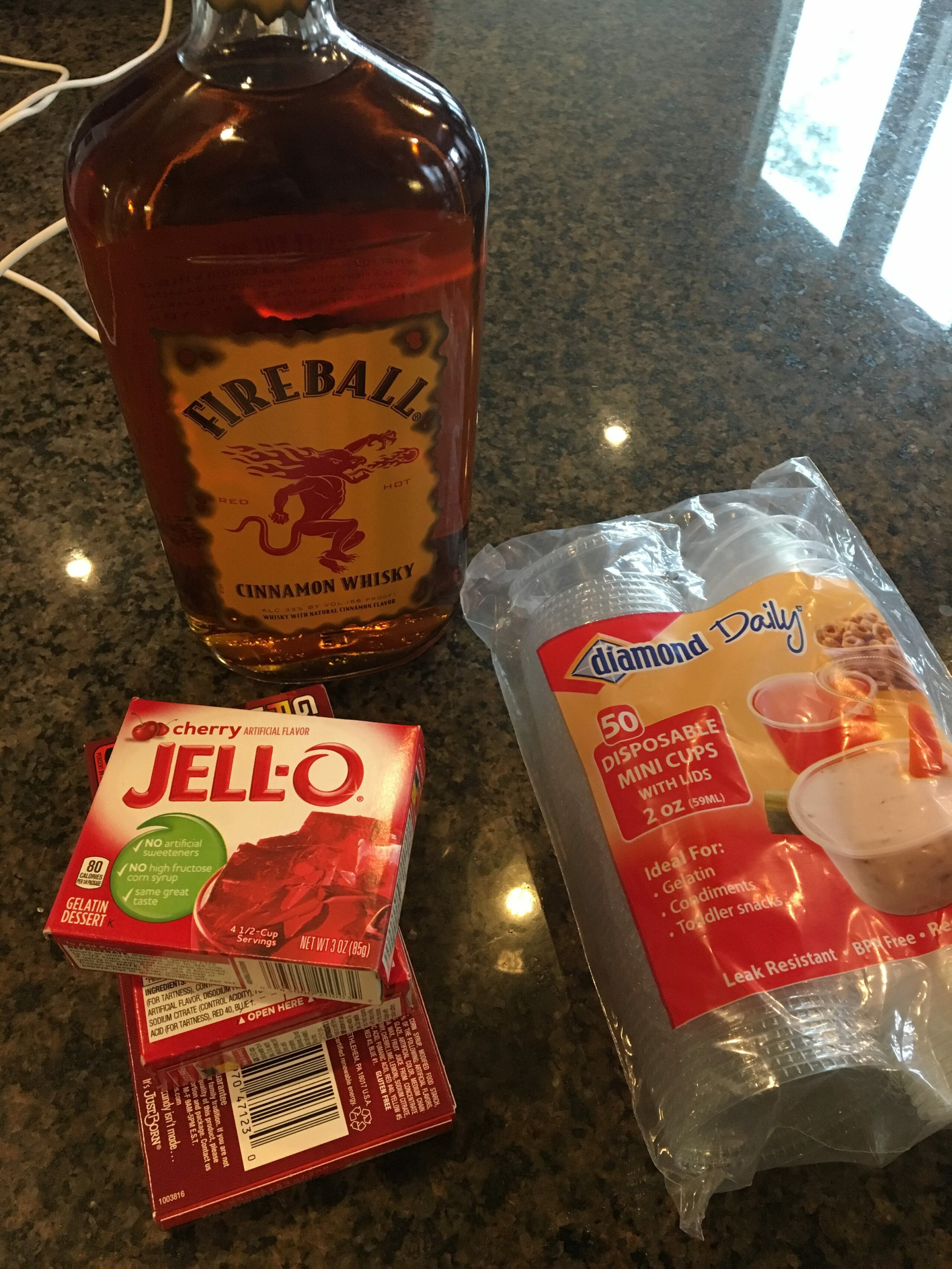 Fireball Jello Shots The Cookin Chicks