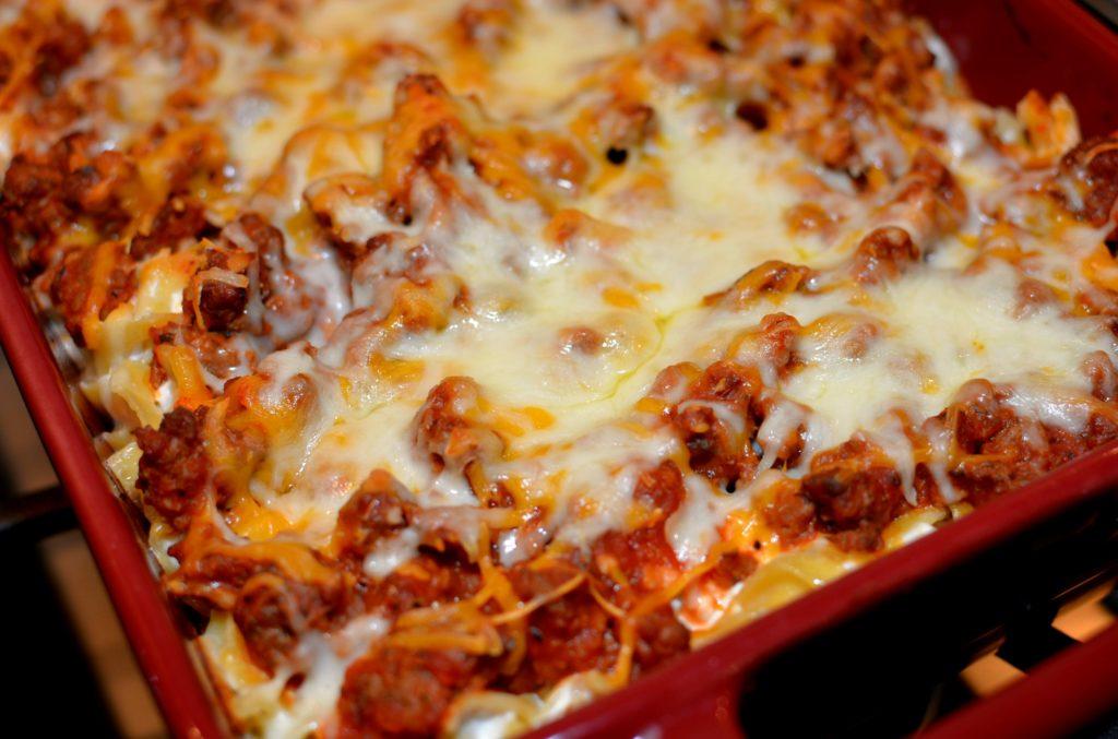 italian noodle casserole - the cookin chicks