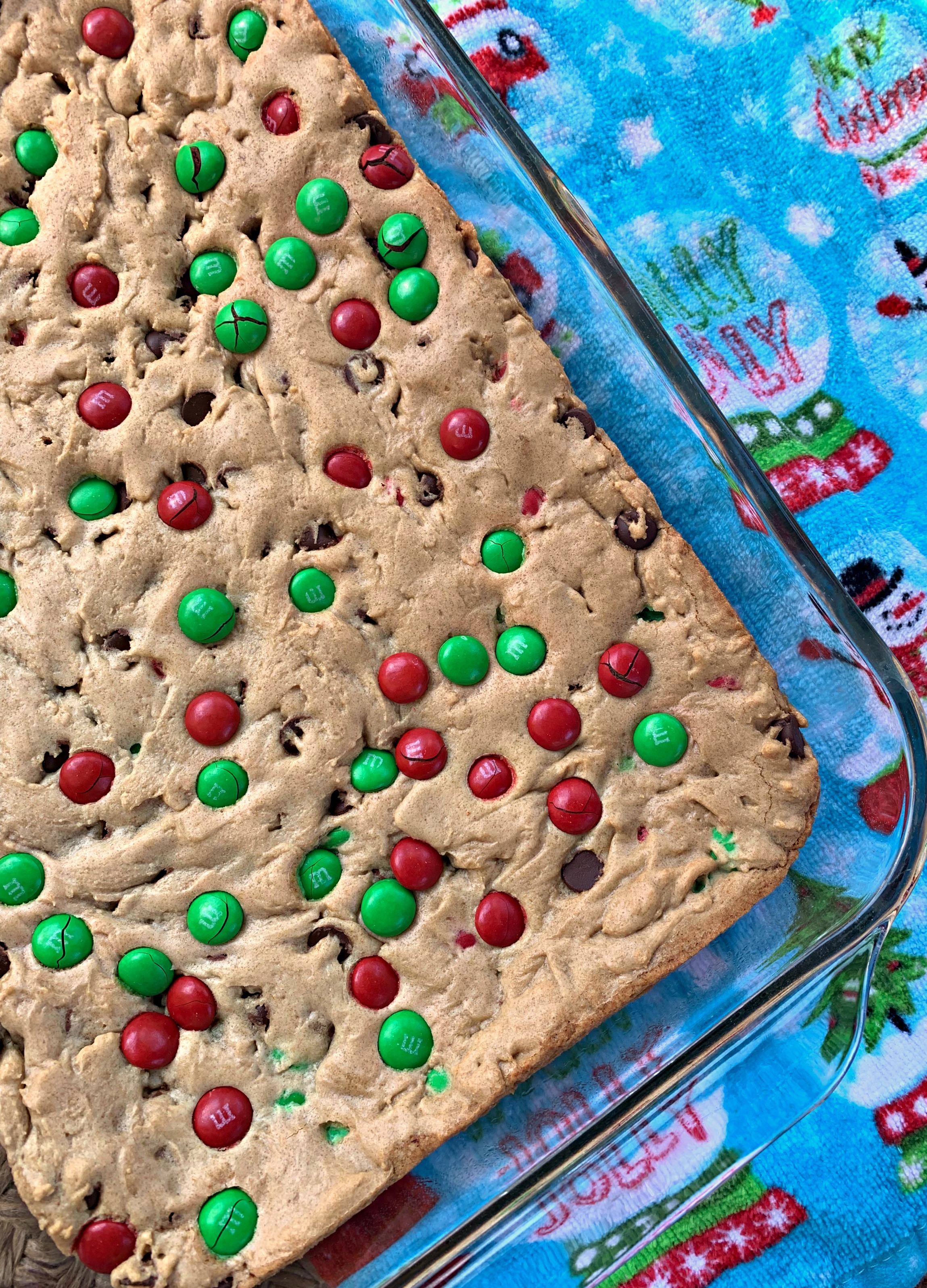 Christmas M M Cookie Bars