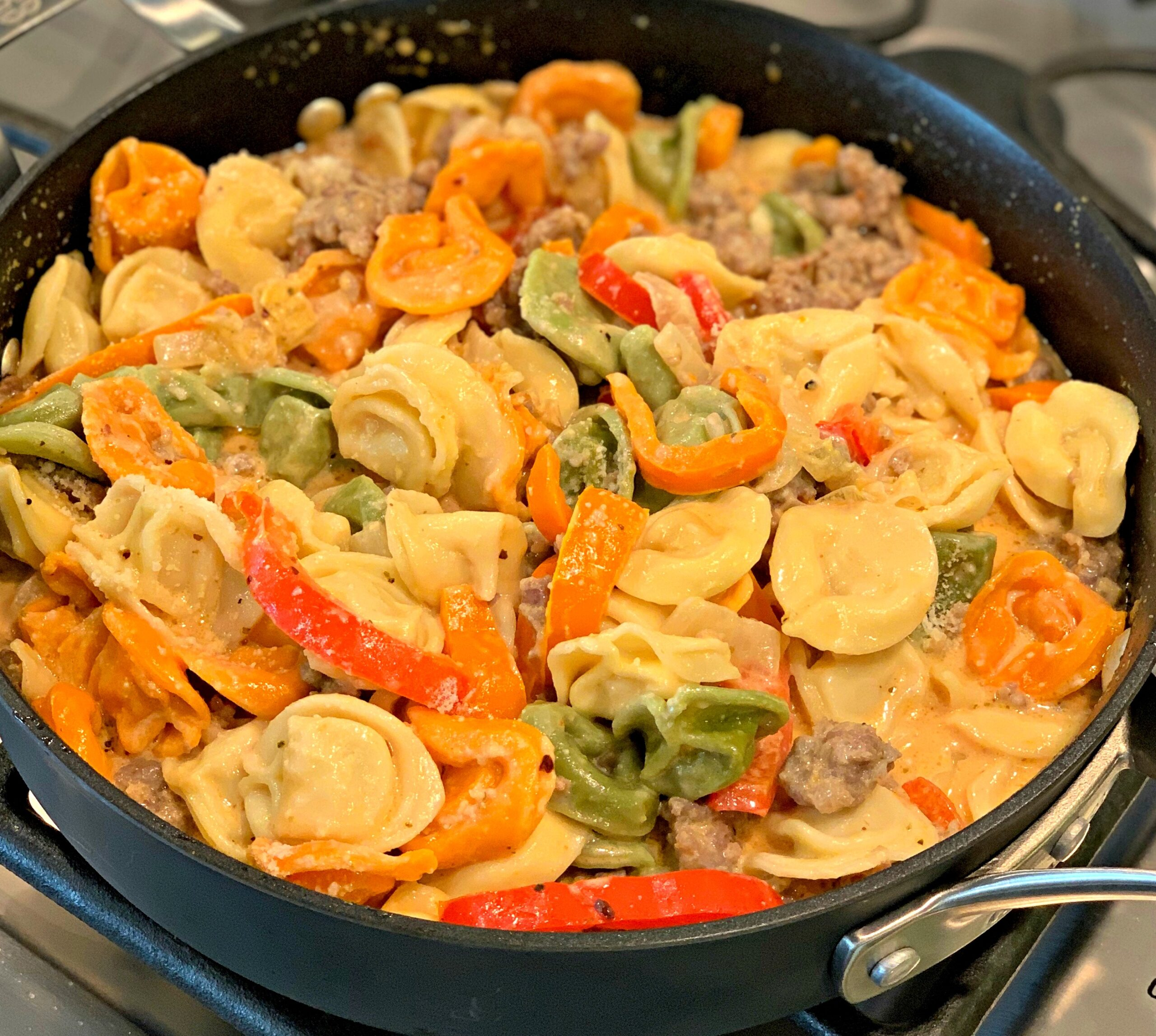 Easy Sausage And Tortellini Skillet