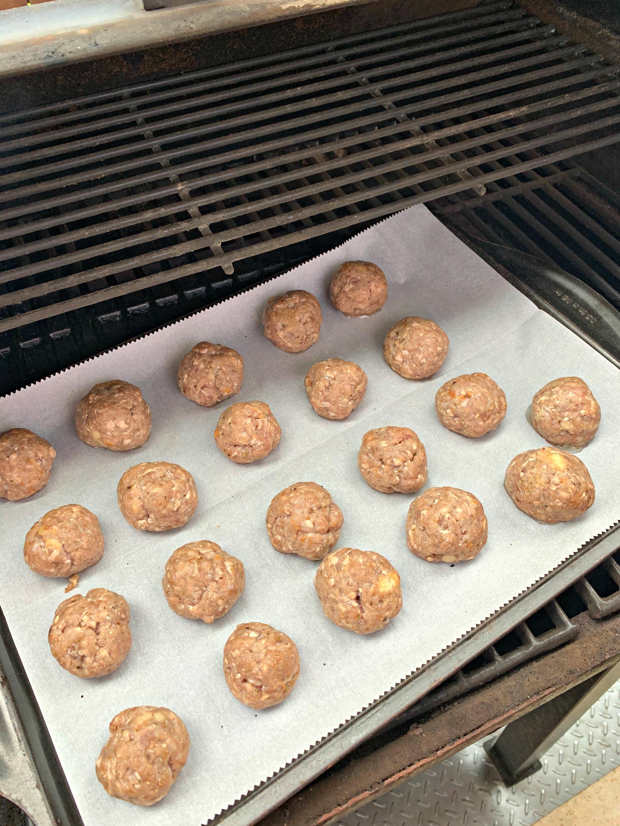 Smoked Italian Meatballs