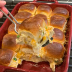 Diced jalapenos, shredded chicken, Hawaiian sweet rolls, and cheese combine into these tasty Jalapeno Chicken Sliders