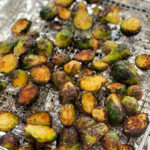 Crispy seasoned brussel sprouts from the air fryer.