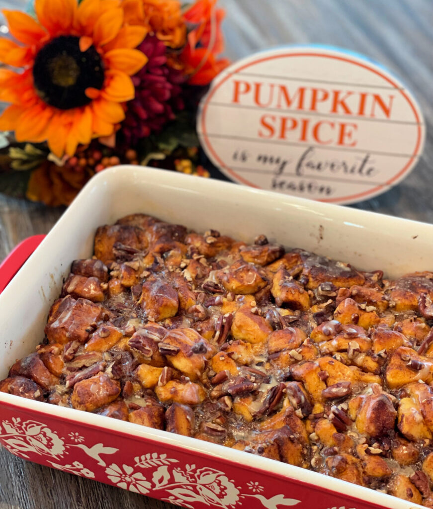 tender cinnamon rolls combined with a pumpkin spice flavor